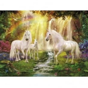Waterfall Glade Unicorns Paint by Numbers