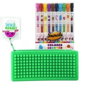 Watermelon Pencil Case with 10 Scented Pencils Smencil Bundle