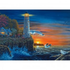 Waterside Lighthouse Large Paint By Numbers