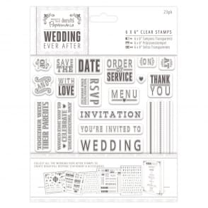wedding ever after 5 x 5 clear stamps topper sentiments words