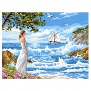 Whispering Shores Large Painting By Numbers