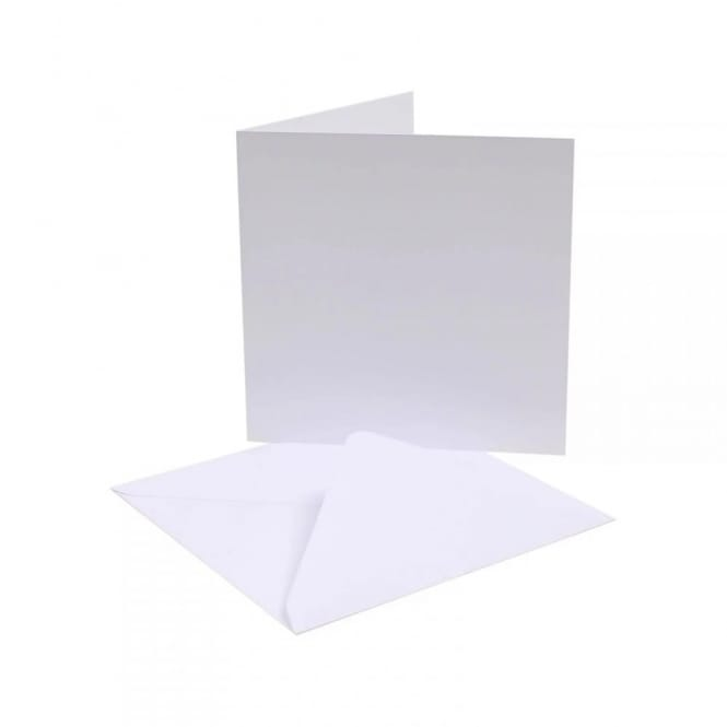 """white blank cards  envelope pack of 50 6""""x 6"""