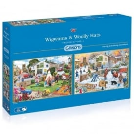 Wigwam & Wolly Hats 2 x 500 Piece Puzzles