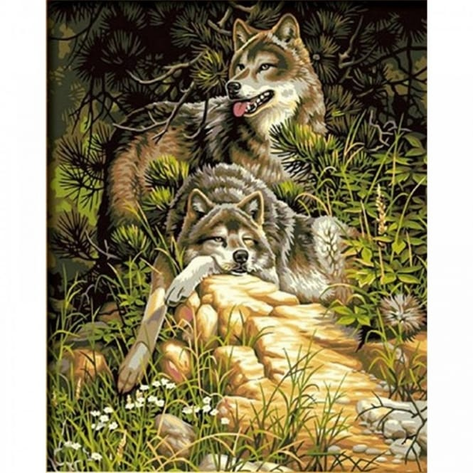 Wild & Free Wolves Paint by Number