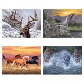 Wildlife Collection Paint By Numbers Pack of 4
