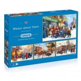 Winter About Town 4 x 500 Piece Puzzles