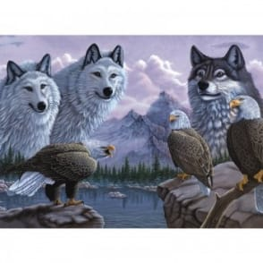 Wolves And Eagles - Large Paint By Numbers