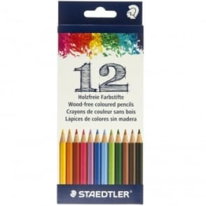 Wood-Free Coloured Pencil 12 Pack
