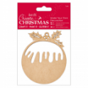 Wooden Shaped Christmas Shape, Nuvo Glue Pen and Glitter Bundle