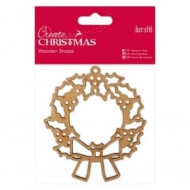 Wooden Shaped Christmas Wreath