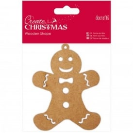 Wooden Shaped Gingerbread Man