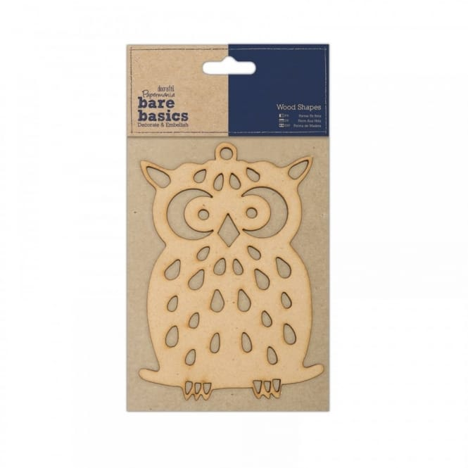Wooden Shaped Owl 10cm