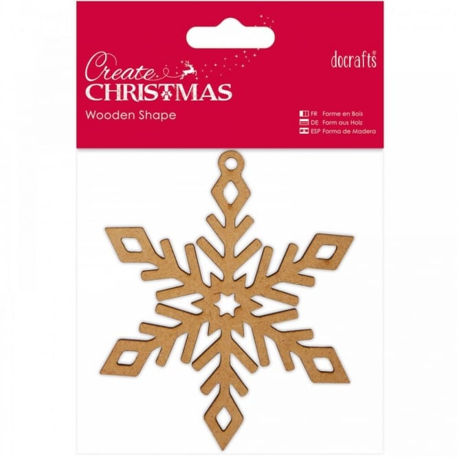 Wooden Shaped Snowflake