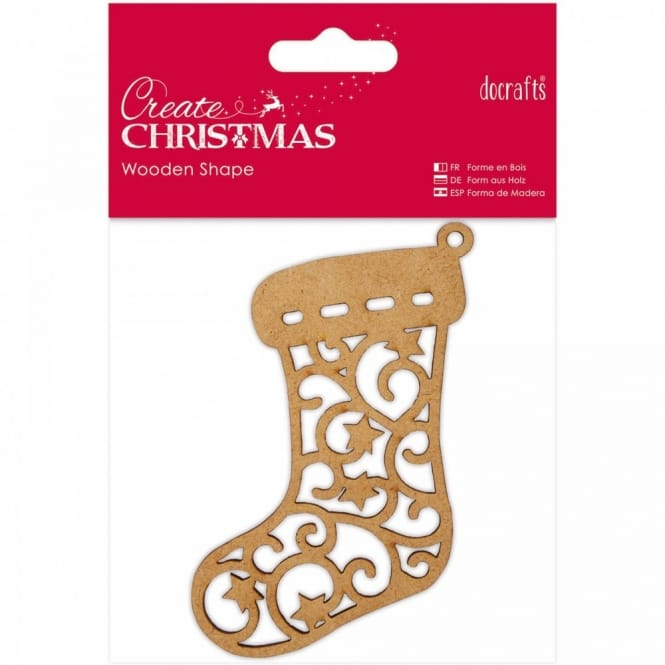 Wooden Shaped Stocking
