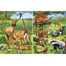 Woodland Animals Twin Pack Junior Paint by Number