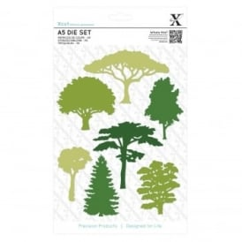 Woodland Trees 7 Piece Die Set