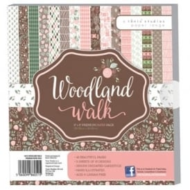 "Woodland Walk 8"" by 8"" Paper Pack - 48 Sheets 160gsm"