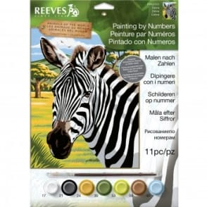 Zebra Junior Paint by Numbers
