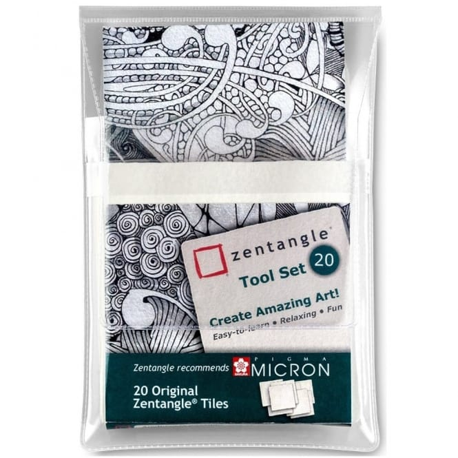 Zentangle Tool Set - Pack of 20 White Paper Tiles